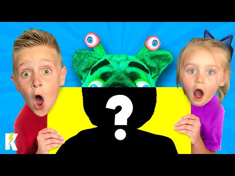 ALIEN FACE REVEAL! (Kids vs Alien Hide and Seek Game / Skit) KIDCITY