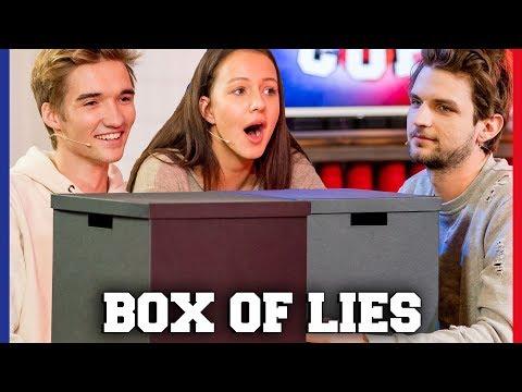 IS GIO EERLIJK BIJ BOX OF LIES?   Gio, Sophie, Jill, Kaj   Challenges Cup #41