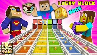 FGTEEV Minecraft Lucky Block Race #1: We Are Such Cheaters & Mom