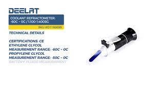 Coolant Refractometer: -60C ~ 0C/1.100-1.400sg