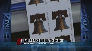 Stamp prices going up