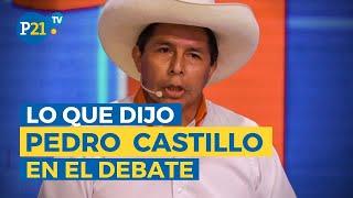 Elecciones 2021: PEDRO CASTILLO y su participación en el DEBATE presidencial