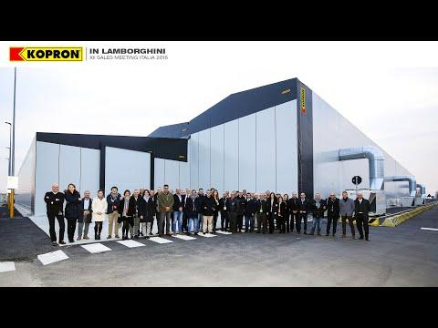 Kopron - Capannoni mobili di grandi dimensioni per Lamborghini