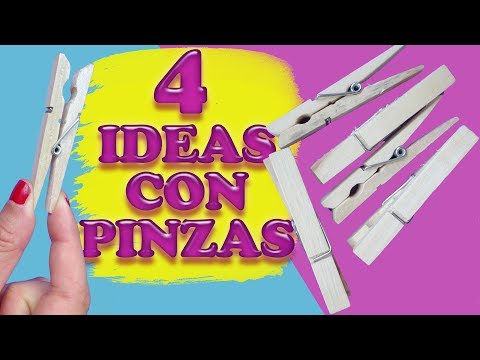 4 IDEAS DECORATIVAS UTILIZANDO PINZAS DE LA ROPA - IDEAS EN 6 MINUTOS