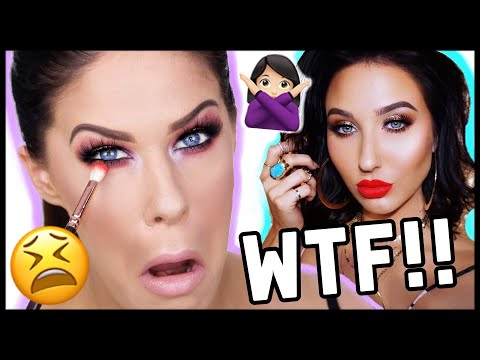 I TRIED FOLLOWING A JACLYN HILL MAKEUP TUTORIAL....AND IT WAS A HOT CAKEY MESS!!!!