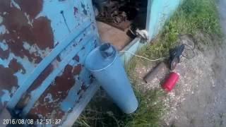 самодельный глушитель резонатор на газель.