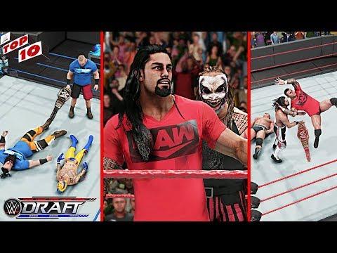 WWE Top 10 Draft 2019 Predictions! (WWE 2K19)