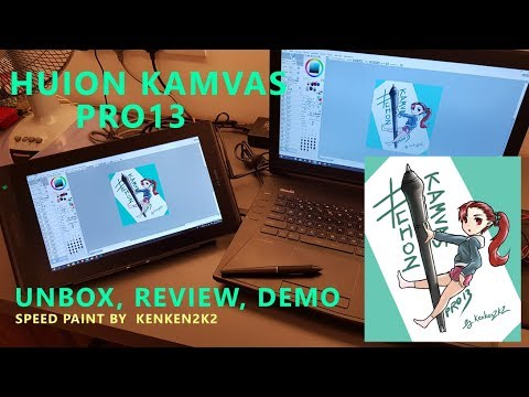 HUION Kamvas Pro 13 | REVIEW | unboxing + speedpaint - Kate's