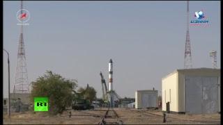 Запуск космического грузовика «Прогресс МС-07» (перенесён на 14 октября)