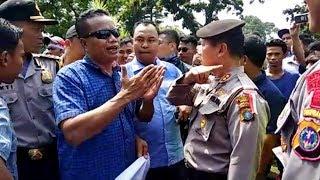 Akses Jalan Ditutup, Pendukung JR Saragih Cekcok dengan Polisi