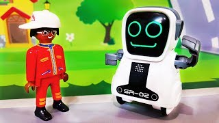 Видео для детей Новая игрушка для Петровича в мультике - Супер Робот. Мультики про машинки