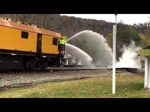Loram Rail Grinder on Main 1 at Elliston, VA