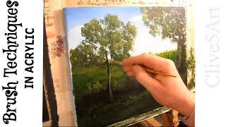 preview picture of video 'Acrylic Painting, Lessons, Techniques:  Brush Techniques, Part 2'
