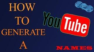 youtube gaming names generator - मुफ्त ऑनलाइन