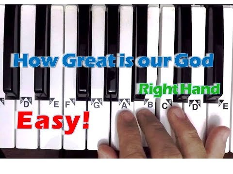 How great is our God - Easy Piano Tutorial (Right Hand)