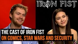 The Iron Fist cast on the comics, Star Wars, and set security