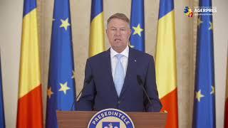 Declarații de presă susținute de președintele Klaus Iohannis, Palatul Cotroceni