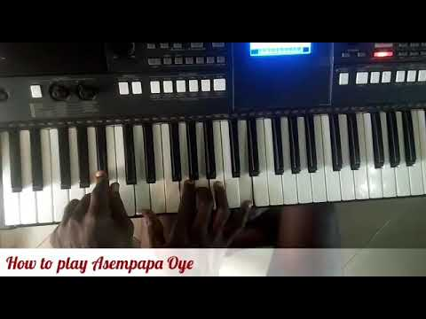 How to play Asempapa Oye by James Varrick Armaah (Piano tutorial)