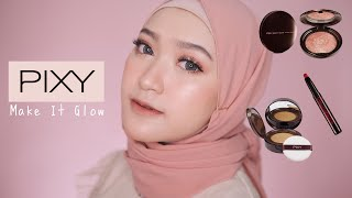 FLAWLESS MAKEUP KE SEGALA ACARA PAKE PIXY MAKE IT GLOW BARU + SWATCHES CRAYONTTENTION | Saritiw