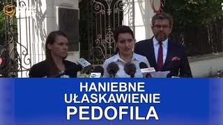 Konferencja prasowa przed kontrolą poselską w Ministerstwie Sprawiedliwości