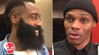 James Harden and Russell Westbrook speak to each other's greatness | NBA Sound