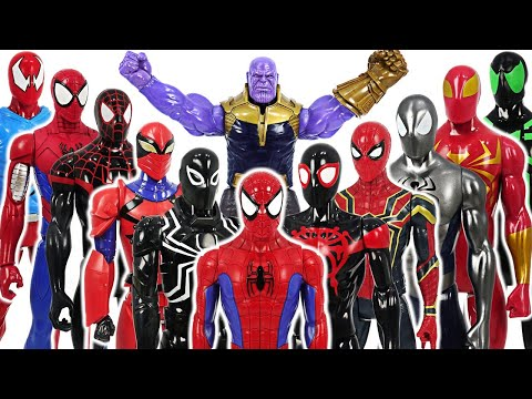 Marvel Avengers Spider-Man army VS Thanos and giant Dinosaurs army battle!! #DuDuPopTOY