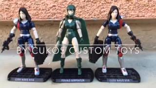Gi joe female serpentor and female Crimson guard twins