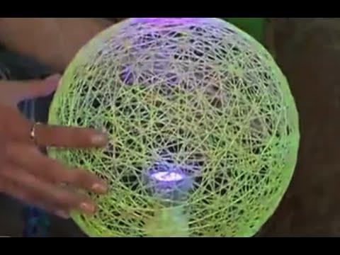 Как сделать красивый абажур своими руками? - смотреть видео