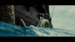 Кракен нападает на Черную Жемчужину. Джек покидает судно. HD