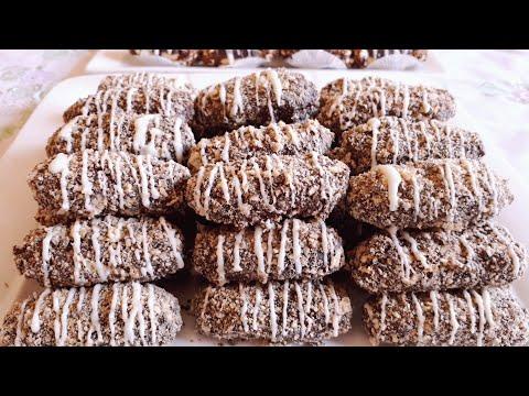 حلويات العيد /حلوى 90 حبة ببيضة واحدة اقتصادية بدون طابع هشة و كذوب في الفم