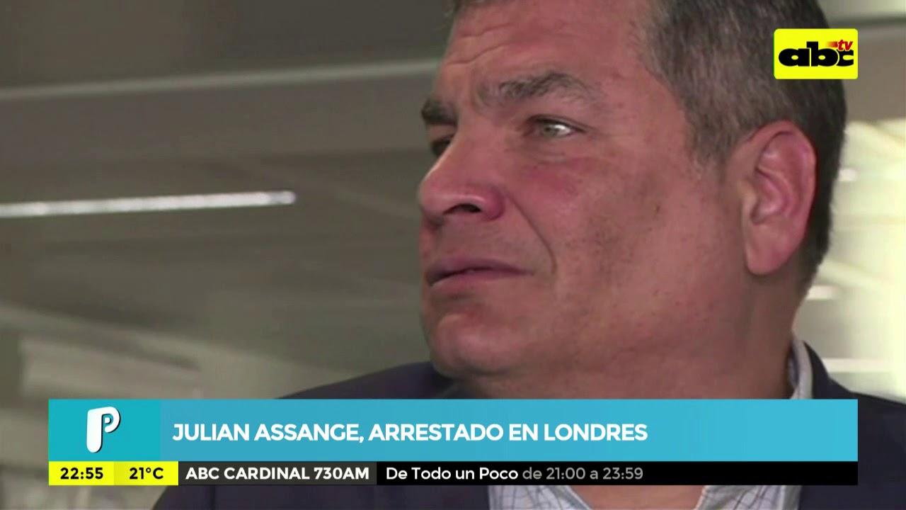 Julian Assange, arrestado en Londres