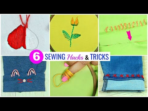 6 Amazing SEWING HACKS Every Teenager MUST Know…   #Nostitching #LifeHacks #Anaysa #DIYQueen