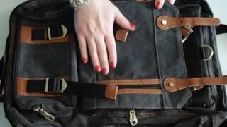 Kaukko Vintage Fashion School Backpack Hiking Daypack Review