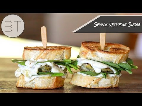 Spinach Artichoke Sliders