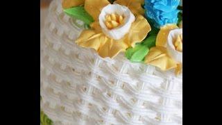 Как сделать плетенку на торте из крема