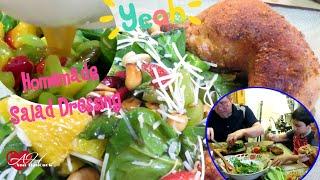 สลัดผักโขมและน้ำสลัดทำเอง Spinach Salad & Homemade Salad Dressing | และส้มตำไก่ | Ann Hancock