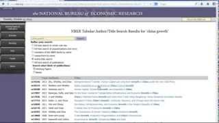 How to Search for NBER Working Papers