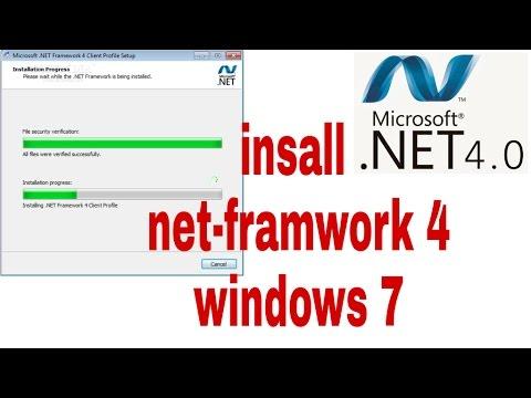 how to install net framework 4 on windows 7 32/64 bit