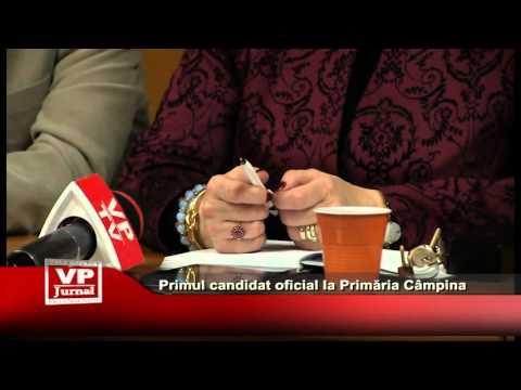 Primul candidat oficial la Primăria Câmpina