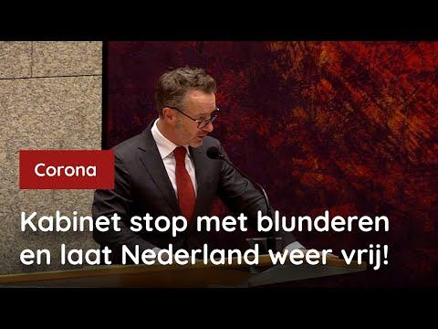 Kabinet stop met blunderen en laat Nederland weer vrij!