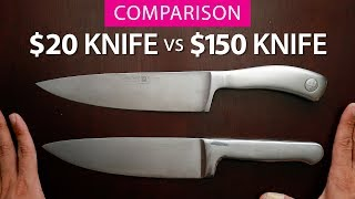 $150 Kitchen Knife vs $20 Kitchen Knife: Wufthof Culinar vs KitchenAid Forged Series Chef's Knife