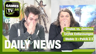 Oculus VR vs. Zenimax, Diablo 3 Patch, Wildlands | Games TV 24 Daily -  02.02.2017