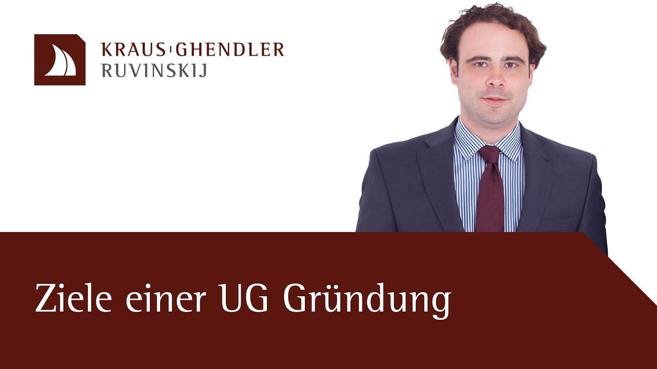 Ziele einer UG Gründung
