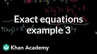 Exact Equations Example 3