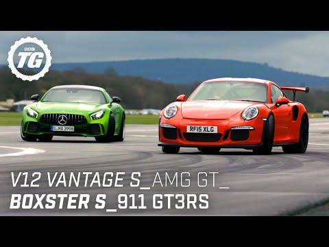Chris Harris Drives… Sportscars: V12 Vantage S, AMG GT R, Porsche 911 GT3RS   Top Gear