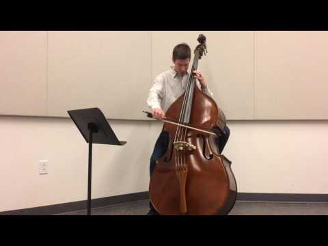 "Bach Cello Suite No.3 Movement 1 (double bass)  - ""Prelude"""
