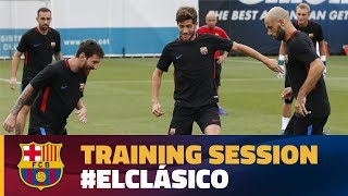 Final workout before the Spanish Super Cup