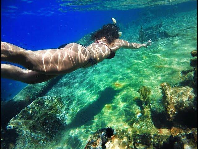 Snorkeling at the Zadar Shipwreck in Croatian Adriatic Sea
