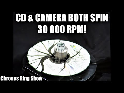 72 high speed cameras catching exploding disc. 100,000 fps