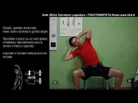 Guarigione ginnastica hip su Evdokimenko